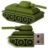 CNL - Chiavetta USB 2.0 a forma di carro armato, 8 GB, colore: Verde