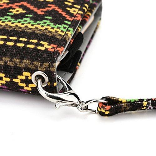 Kroo Téléphone portable Dragonne de transport étui avec porte-cartes compatible pour LENOVO A526 Multicolore - rose Multicolore - jaune
