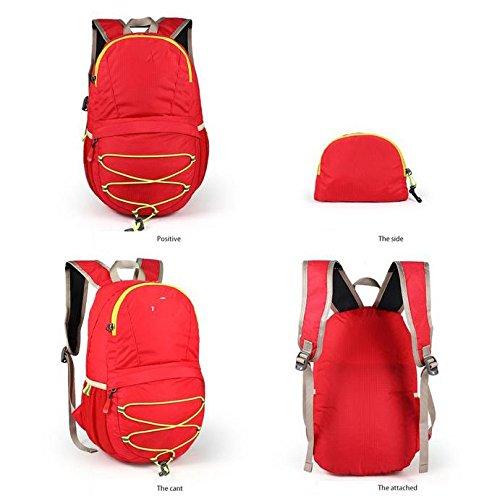 ROBAG Zaino in tessuto nylon impermeabile pieghevole ultra leggero 12L, borsa da escursione esterna , roses red red