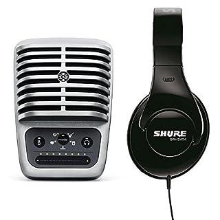 Shure Bundle MV51 Kondensatormikrofon- / USB- und Lightning-Kabel mit Shure SRH240A Profi-Kopfhörer
