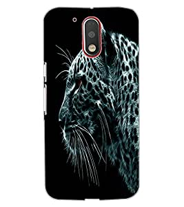 ColourCraft Tiger Look Design Back Case Cover for MOTOROLA MOTO G4
