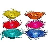 GUIRMA - Sombrero espantapájaros paja colores 54ae8b51529