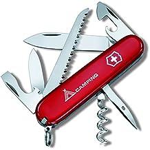 Victorinox Taschenmesser Offiziersmesser Camper mit Piktogramm - Navaja de bolsillo, color rojo