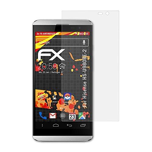 atFolix Schutzfolie kompatibel mit Hisense HS-U980BE-2 Bildschirmschutzfolie, HD-Entspiegelung FX Folie (3X)