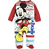Disney Baby Babies Boy Mickey Mouse Sleepsuit Pyjamas Onesie 100% Cotton 0-24 Months - New 2018