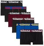ATHENA - LOT 6 BOXERS - TRIO CHOC - Garçon - 14 ans - Boxers - 95% Coton -  Noir...