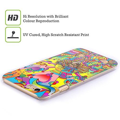 Ufficiale Howie Green Cantante Hippie Psichedelico Cover Retro Rigida per Apple iPhone 5 / 5s / SE Cantante Hippie 3