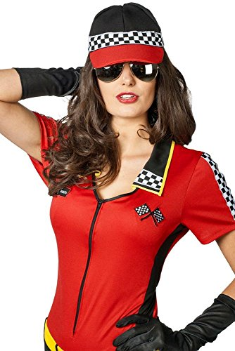 Girl Grid Kostüm - Wilbers Damen Kostüm Zubehör Race Kappe Basecap Boxenluder Karneval Fasching