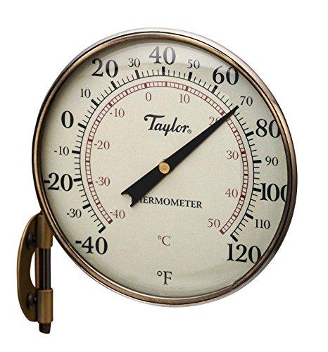 Bronze 4.25 (Taylor Heritage Thermometer mit Zifferblatt, Metall, 10,8 cm 11 cm (4,25 Zoll) Wählscheibe 4.25-Inch Bronze Trim)
