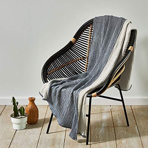 Splendid Home Überwurf, 50 x 70 cm, Eisen/Marineblau (Throw Blanket 50 70 X)