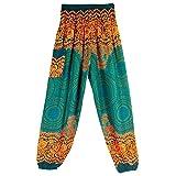 CAOQAO Pantaloni Sportivi da Uomo in Cotone Casual con Stampa Allentata in Cotone e Hippie