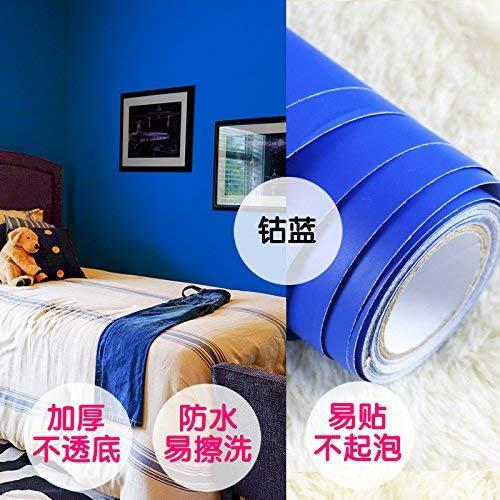Hechgobuy Die kreative Selbstklebender Wand Poster instant - wasserdicht Wohnheim Einrichtung Mobiliar Aufkleber Tapete Tapete Tür - Kobalt blau 60 * 100 cm