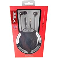 Vibe Space Black Zip Up Headphones with Extreme Bass