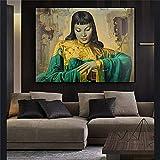jiushice Lady of Orient Reproduktion von Öl auf Leinwand Poster und skandinavische Wandbilder für Wohnzimmer 1 30X40CM