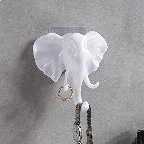 Colgador de toalla para dormitorio o cocina, diseño de elefante (paquete de...