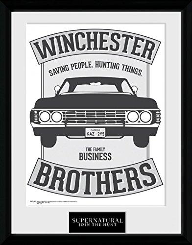 Supernatural - Winchester Poster Da Collezione Incorniciato (40 x 30cm)
