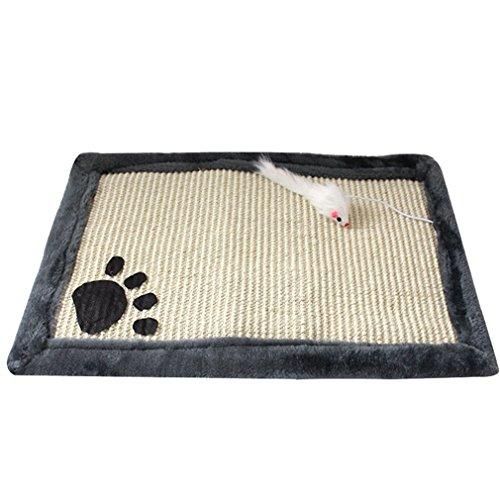 Yuncai Niedlich Katze kratzmatte Claws Schleif Sisal Kratzteppich für Kätzchen Haustier Grau
