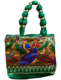 Hand Bag For Women Stylish Low Price Peacock Design Casual Shopping Bag Green Colour New Collection