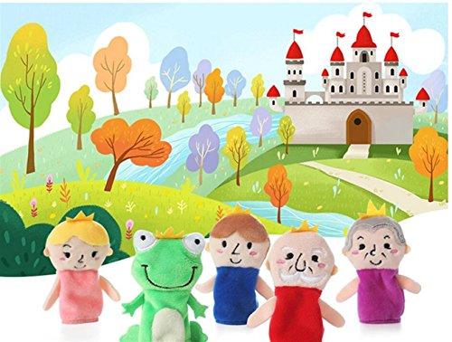 Unbekannt Home Decor 5 Stücke Weiche Pädagogische Handpuppe Set Geschichte Puppen Spielzeug für Baby und Kleinkinder (Froschkönig)