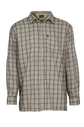 Champion milton, camicia invernale da uomo, a maniche lunghe, foderata in micro pile taupe x-large