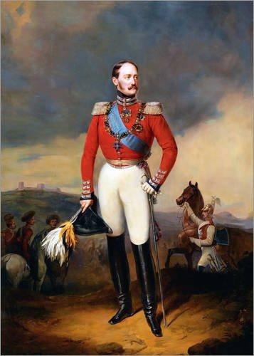 Poster 21 x 30 cm: Porträt Nikolaus I von Russland von Franz Krüger - hochwertiger Kunstdruck, neues Kunstposter
