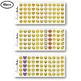 Amacoam 48 Blätter Emoji Sticker Set Smiley Aufkleber Klein Emoji Sticker Aufkleber Smiley Spielzeuge für Kinder Emoticon Packung Cut Aufkleber für Handy Laptop Notebook Kalender Tagebuch Dekoration