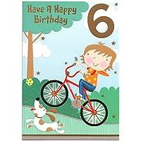 Auguri per sei (6) anno vecchio bambino–Importato Post (UK)