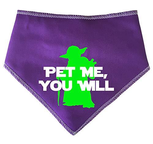 alstuch für Hunde, Star Wars Pet Me You Will Yoda Spruch, Lila ()