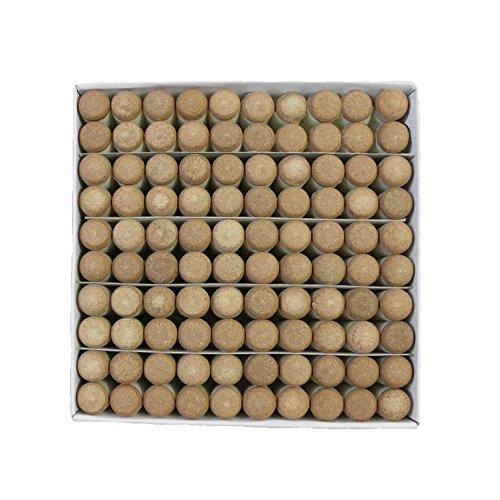 Scott Edward Quick Pool Snooker Billard Tipps, Push auf Spitze für Billard, Pool Cue Tipps-Stick Geschenk box-packed, 10mm, 100Stück, 2Farben (grau/braun) optionale, braun -