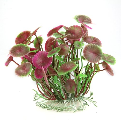 Planta Artificial Decoración para Acuario Plástico Color Rosa