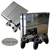 'Silver Glossy Decal Skin Sticker Faceplates For Playstation 4 Ps4 Console And Controllers