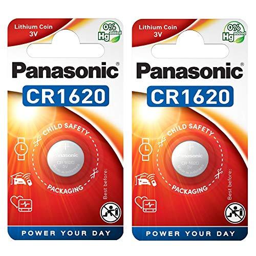 Panasonic CR1620 Lithium-Knopfzelle (3V, Blisterverpackung) 2 Stück