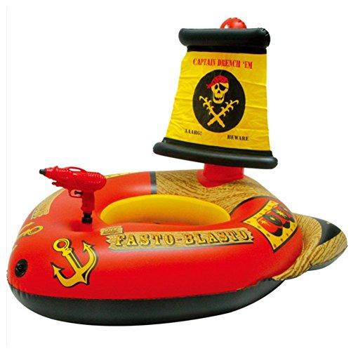 wanxing Aufblasbarer Wasserwerfer Piratenschiff Pool Spielzeug für Kinder