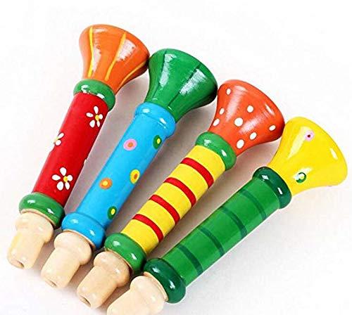 Cupcinu Bunte Baby Kinder Kinder Holz Horn Hooter Trompete 13 cm Nette Kind Lautsprecher Spielzeug Holz Flöte Pfeife Instrumente Musik Spielzeug Säuglingsbildung Zufällige Farbe - Kinder-flöte Holz