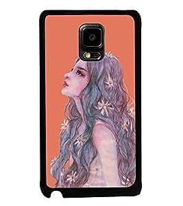 ifasho Designer Back Case Cover for Samsung Galaxy Note Edge :: Samsung Galaxy Note Edge N915Fy N915A N915T N915K/N915L/N915S N915G N915D (Girl Drawing New York (Ny) Usa Girl Velly)