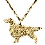 Setter Irlandese Made in UK, Collezione Pendente Collana Artistici Stile Cani