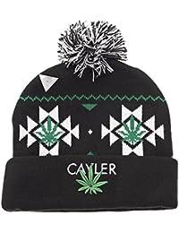 CAYLER & SONS - BEANIE - CAYLER POM POM - BLACK / GREEN / WHITE