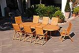 """Garten-Tisch """"Texas"""", oval, ausziehbar, aus Holz"""