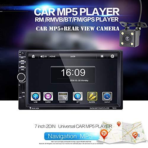 Lovejoy Store Auto-MP5-Player, Bluetooth, Autoradio, 17,8 cm (7 Zoll) Touchscreen, Bluetooth, MP5-Player, Radio, GPS-Navigation, Rückfahrkamera Multi