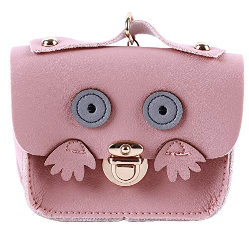 Preisvergleich Produktbild ZALING Frauen Geldbörsen Kleine Niedliche Karikatur Eule Kartenhalter Schlüssel Geld Taschen für Mädchen Damen Rosa