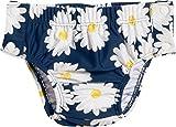 Playshoes Baby-Mädchen Schwimmwindel UV-Schutz Windelhose Margerite zum Knöpfen, Blau (Marine 11), 74 (Herstellergröße: 74/80)