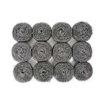 (Set of 12) Stainless Steel Sponges Scrubbers Utensil Scrubber Metal Scouring Pads