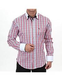 bba5e6528685 Herren Designer Hemd Slim Fit Shirt Rot blau weiss kariert, für Herren BESTE