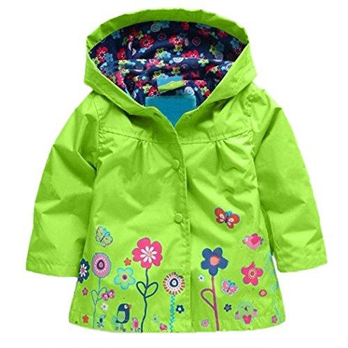 Arshiner Mädchen Regenjacke Grün