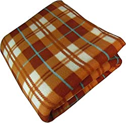 ShopGalore Single Bed AC Blanket - Brown