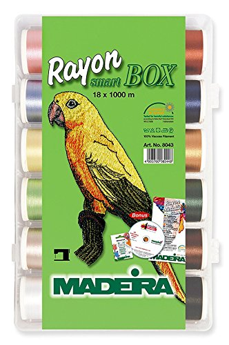MADEIRA Stickfaden 4003760981448 - SM Art Stickgarn Box 18 Spulen Art. 8043 -