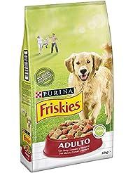 Purina Friskies Pienso para Perro Adulto Buey, Cereales y Verduras 10 Kg