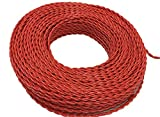 #1: 2 core flexible copper wires and cables 0.5mm 180 feet (60yd) for domestic and industrial electric connections single phase electric connections up to 1100v