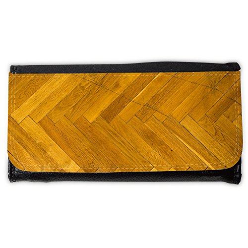 Portemonnaie Geldbörse Brieftasche // M00153498 Parkettboden aus Holz Textur // Large Size Wallet