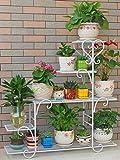 Shuang &Mehrschichtiger Blumenständer Blumenständer Eisenregale Innenbalkon Wohnzimmerregal Großer trapezförmiger Blumenständer (Farbe : B)